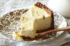 Baked sour cream and passionfruit cheesecake