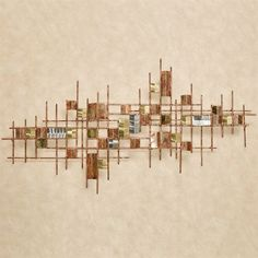 If you appreciate unique, modern design, the abstract InDecca Metal Wall Sculpture might be just the accent to display your tastes. Abstract Geometric Art, Abstract Canvas Art, Metal Wall Sculpture, Wall Sculptures, Wooden Wall Art, Diy Wall Art, Peacock Wall Art, Copper Wall, Metal Projects