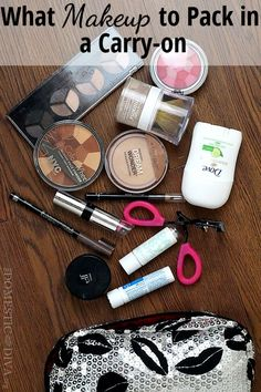 What Makeup to Pack in a Carry-on Bag packing list #traveltips