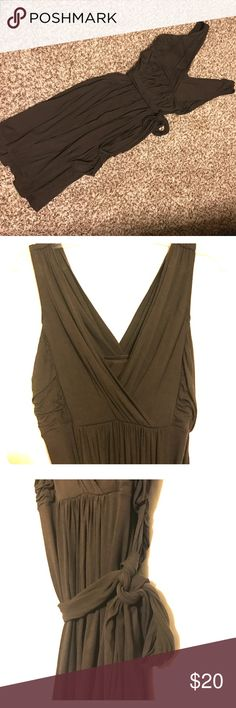 Victoria's Secret Bra Tops Dress Gorgeous chocolate dress features a built in bra & ties at the waist, worn once, washed & hung to dry Victoria's Secret Dresses Midi