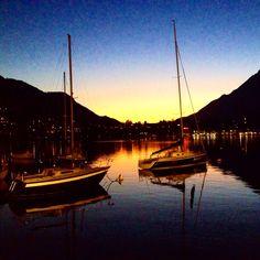Sunset - Lake Como | #lakecomo #Lagodicomo #Italy #panorama #sunset