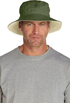 Coolibar UPF 50 Mens Reversible Bucket Hat Sun Protective Sun Protection Hat f5f36d8684d