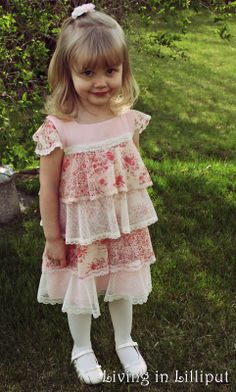 Vintage Girl's Easter Dress and which pattern was used to make it