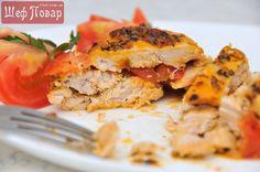 Курица в маринаде с томатами и базиликом