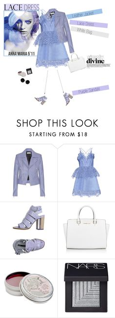 """""""No 327:Lovely Lace Dress (Top Set)"""" by lovepastel ❤ liked on Polyvore featuring Balenciaga, self-portrait, Miista, Michael Kors, Mullein & Sparrow, NARS Cosmetics and lacedress"""