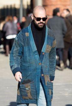 Мужское пальто в стиле боро