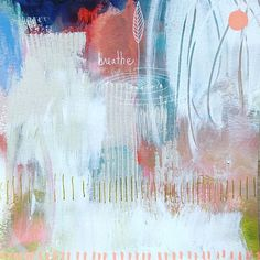 """Breathe"" Brave intuitive painting by Flora Bowley, Flora Bowley, I Love You, My Love, Mini Paintings, Art Therapy, Good Night, Abstract Art, Bloom, Projects"