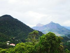 Chegando à Petrópolis. A serra dos órgãos faz bem aos pulmões e aos olhos. Vista do alto do morro onde está o Trono de Fátima./RJ/Brasil