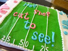 Gender Reveal Cake and Fantasy Football Party!