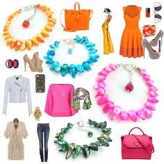 Jak zestawić ubranie z biżuterią? Pantone 2017 i nie tylko. Business Casual, Pantone, Polyvore, Teacher, Ideas, Fashion, Moda, Professor, Fashion Styles