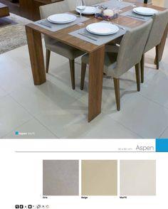 Aspen 60 x 60 cm Porcelánico Rectificado, piso y muro