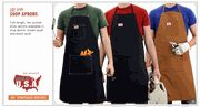 ROUND HOUSE SHOP APRON - MADE IN USA - HEAVY DUTY FOR WORK OR COOKING $16.99 #MadeinUSA #MadeinAmerica via BuyDirectUSA.com
