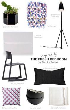 Fresh contemporary bedroom shopping list inspiration #bedroom #shopping