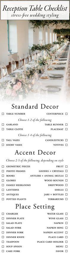 7 Best Wedding reception checklist images Wedding ceremony