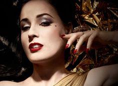Maquiagem Art Deco coleção Dita Von Teese Golden Vintage
