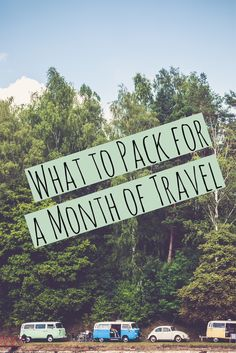 What to Pack for a Month of Travel -- #travel #trip #vacation #packinglist #travelitems via @LiveLearnVentur