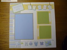 SavedStamper: Baby shower scrapbook layout