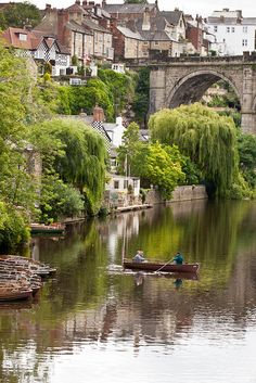 River Nidd, Knaresborough. Yorkshire, England-----beautiful.  the shots always seem to be from the other direction.