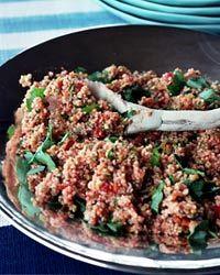 Bulgur Salad with Lightly Roasted Vegetables