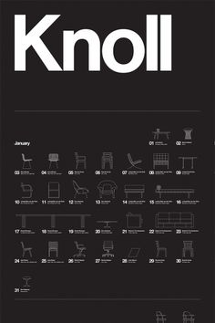 Great poster showing the designs by Knoll.