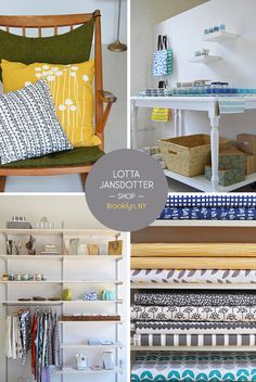 Lotta Jansdotter Work + Shop in Gowanus, Brooklyn. From the Spotted SF blog.