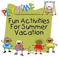 It's Written on the Wall: (Gotta See) Fun Summer Activities to Keep the Kids Bus… - Kids summer activities Summer Fun For Kids, Kids Fun, Summer Daycare, Summer Activities For Kids, Time Activities, Projects For Kids, Kids Crafts, Toddler Crafts, Business For Kids