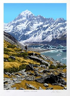 Check out Aoraki Mt Cook by Alec Tayler at New Zealand Fine Prints