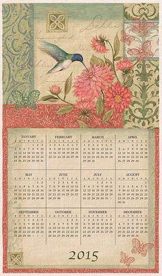Natures Palette Linen Calendar Towel