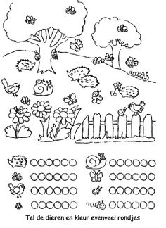 Count the animals and color as much circles as you count animals Preschool Worksheets, Preschool Learning, Kindergarten Math, Fun Learning, Preschool Activities, Teaching, Pre Writing, Math Numbers, Kids And Parenting