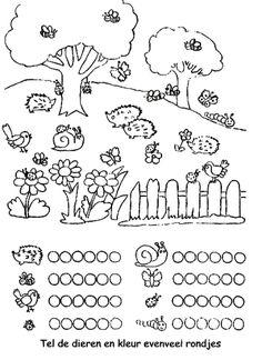 Schrijfpatroon sprinkhaan, thema insecten voor kleuters