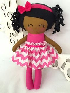 This is a 15 inch Handmade Doll that is part of the Dressy Doll collection from Sew Many Pretties.    This cutie is handmade from high quality
