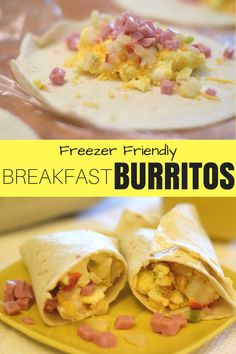 Breakfast burritos are great to stock your freezer with! This breakfast burrito can be tailored to fit your tastes and reheats quickly, so you can have a hot, egg burrito! Turkey Breakfast Sausage, Bacon Breakfast, Best Breakfast, Breakfast Recipes, Breakfast Ideas, Turkey Sausage, Bacon Sausage, Breakfast Sandwiches, Vegetarian Breakfast