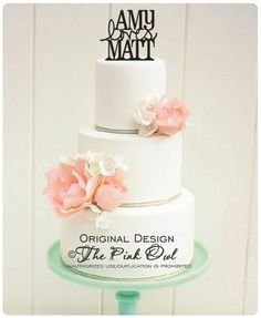 Wedding Cake Topper First Names Love Topper with YOUR Names