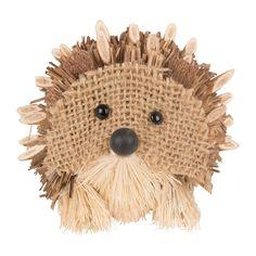 Van stro en jute kan je hele leuke diertjes maken. Wij hebben dit schattige egeltje ervan gemaakt!