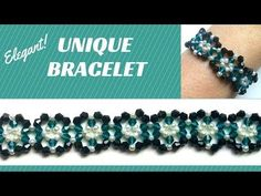 Beaded tutorial for a unique bracelet- very easy tutorial - - YouTube
