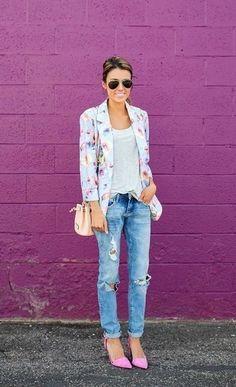 Comment porter un jean boyfriend déchiré bleu clair en 2017 (146 tenues) | Mode femmes