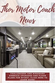 ELKHART, IND. (Sept. 15, 2020) – Challenger® and Miramar® Class A motorhomes by Thor Motor Coach® embrace upgrades and floor plans. Click here to continue reading this press release.