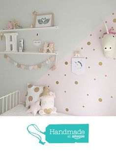 gold dot stickers gold polka dot decals spot decal home decor vinyl wall stickers gold dot decals gold dots gold gold decals decals add a gold glitter dot stickers Baby Bedroom, Girls Bedroom, Bedroom Decor, Girl Toddler Bedroom, Desk For Girls Room, Lego Bedroom, Childs Bedroom, Child Room, Nursery Room