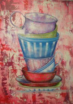 Tiempo de relax | Time to relax | Acrílico sobre lienzo | Acrylic on canvas by Pili Tejedo 75 x 100 cm