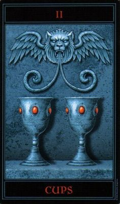 The Gothic Tarot: Two of Cups
