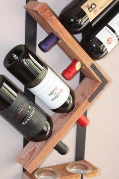 Botellero pared montada estante del vino de por AdliteCreations