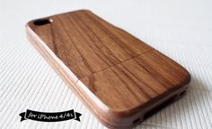 35% DISCOUNT Walnut Wood Natural wood iPhone 4 case,Plain, Walnut Wood iphone case, Wooden Pattern, iPhone 5s case, Nest, Tree, hard wood on Etsy, $23.99