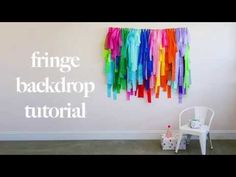 Learn how to make your fringe backdrop with this step-by-step tutorial from Shop Sweet Lulu. Lulu Shop, Backdrops For Parties, Make It Yourself, Ol, Party Ideas, Candy, Sweet, Youtube, Ideas Party