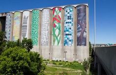 Thunder Bay grain elevators weren't painted like this. But I did see them out of our kitchen window, every day.