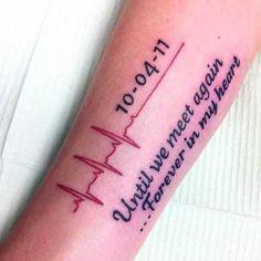 Love this heartbeat tattoos, heartbeat tattoo with name, memorial tattoos g Dope Tattoos, Trendy Tattoos, Body Art Tattoos, New Tattoos, Small Tattoos, Girl Tattoos, Sleeve Tattoos, Tattoos For Women, Cross Tattoos