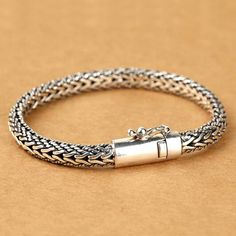 Men's Sterling Silver Wheat Chain Bracelet  URL : http://amzn.to/2nuvkL8 Discount Code : DNZ5275C
