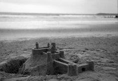 Sand castle.  Front view.