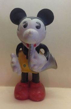 "Large 5 1/4"" Bisque Mickey Mouse (1930's)"