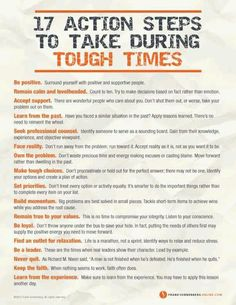 17 Action Steps to take During Tough Times