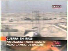 Transmisión en vivo invasión Estados Unidos (USA) a Irak CNN. En busca de las armas de destrucción masiva. Wayfarer, Horror, Mens Sunglasses, War, Youtube, Weapon Of Mass Destruction, United States, Men's Sunglasses, Youtubers